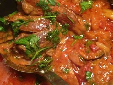 Lamb shank curry with aubergines