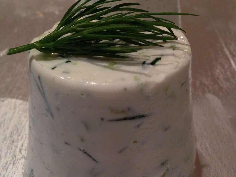 Creamy cucumber and dill mousse