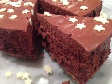 Chocolate and chestnut truffle torte