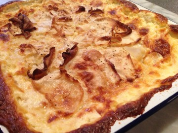 Celeriac and raclette cheese gratin