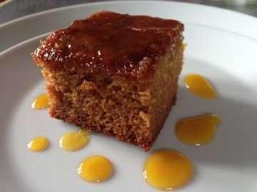 Orange, honey and almond polenta cake