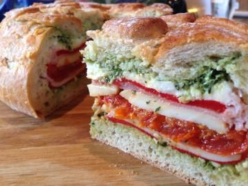 Stuffed picnic loaf