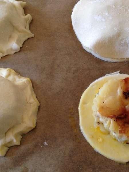 Puff pastry potato pies