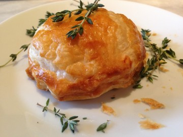 Puff pastry potato pies