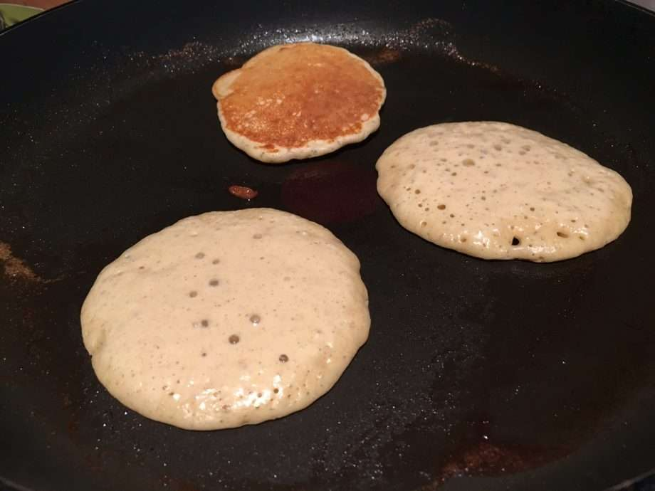 Buckwheat blinis with smoked salmon, sour cream and caviar