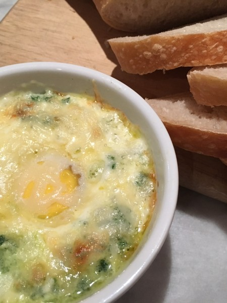 Eggs en cocotte two ways