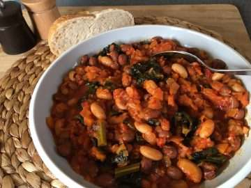 Nduja, bean and cavolo nero ragoût
