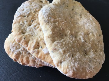 Seeded flatbreads