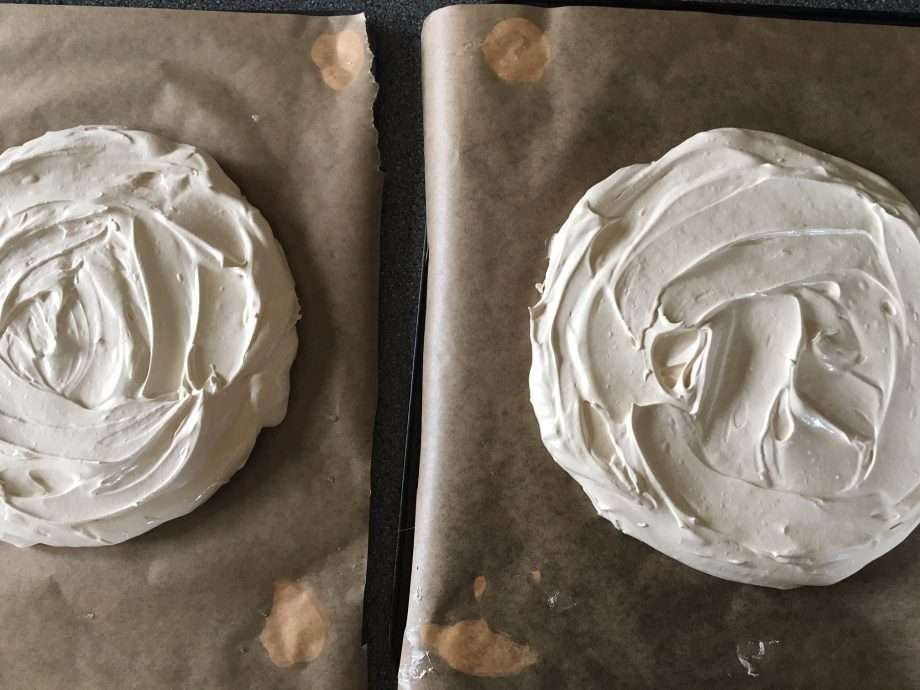 Mocha chocolate meringue cake