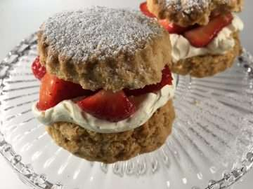 Pimms-soaked strawberries and lavender shortcakes