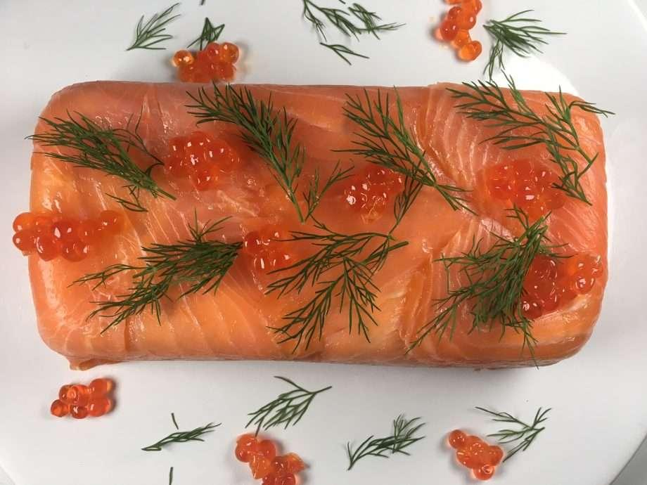 Smoked salmon terrine