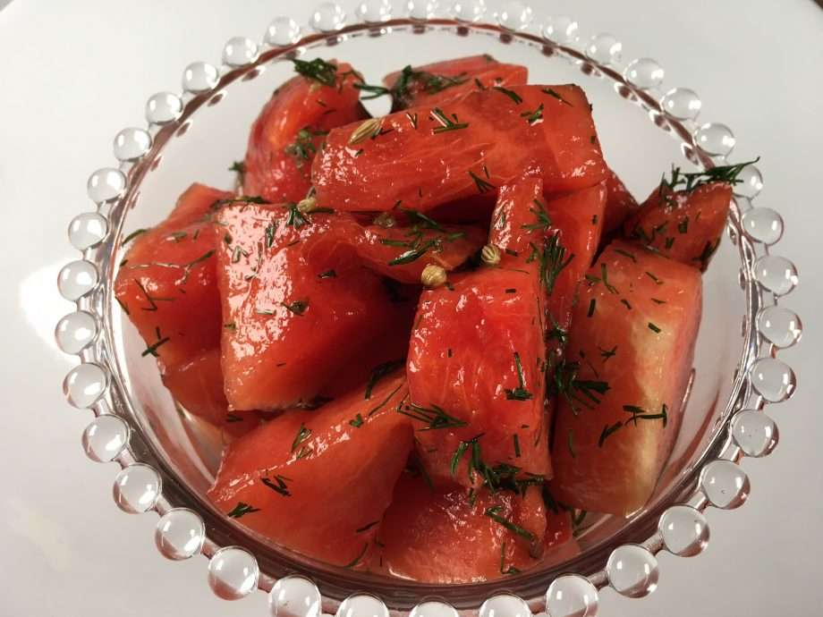 Pickled watermelon