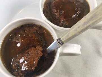 Almost instant sticky toffee pudding