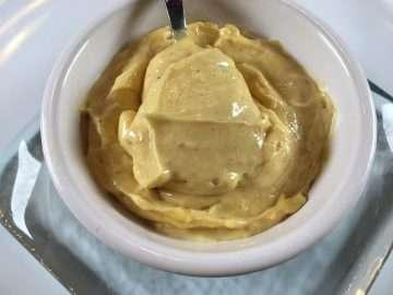 Brown butter hollandaise sauce
