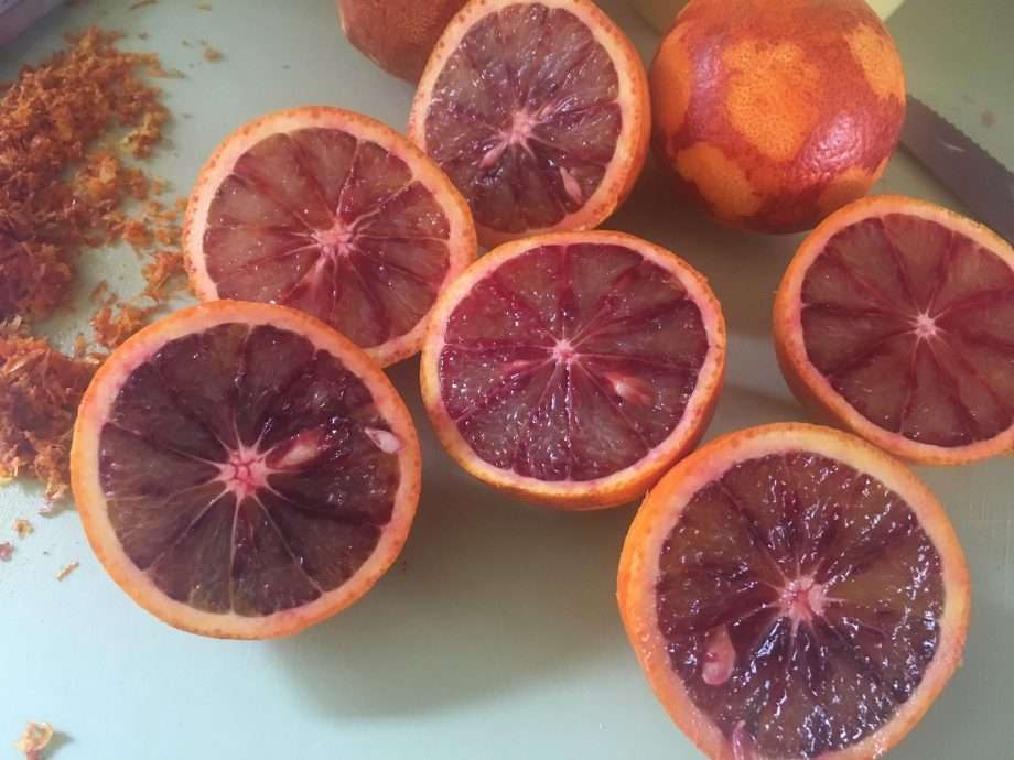Blood orange curd shortbread