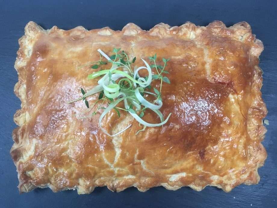 Taleggio and mortadella pie