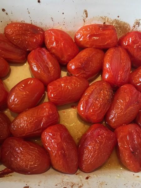 Courgette sformata with roasted cherry tomato vinaigrette