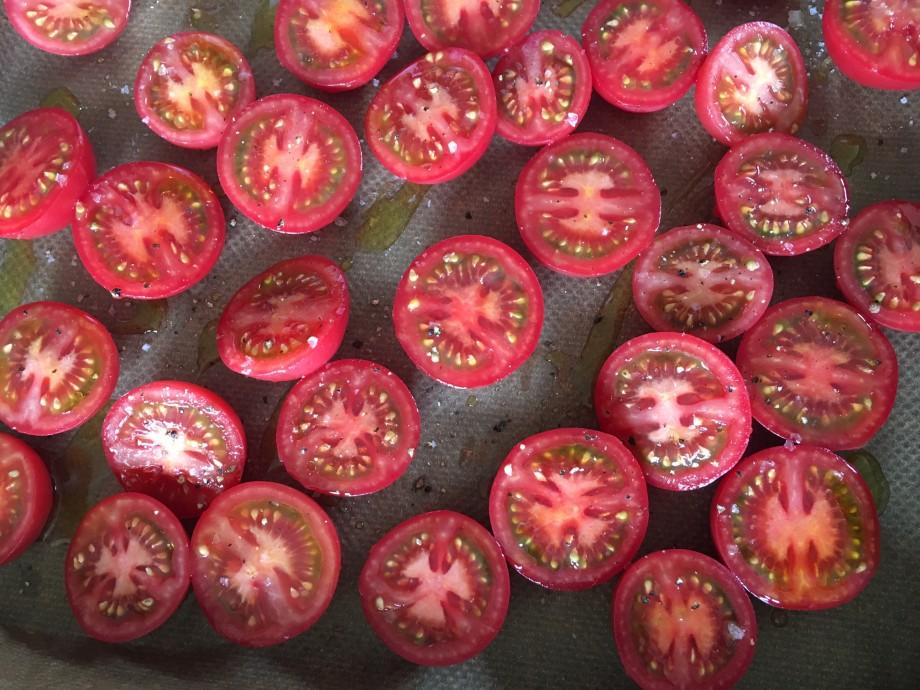 Tomato clafoutis