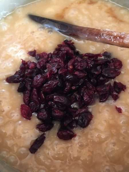 Cranberry and vanilla tablet