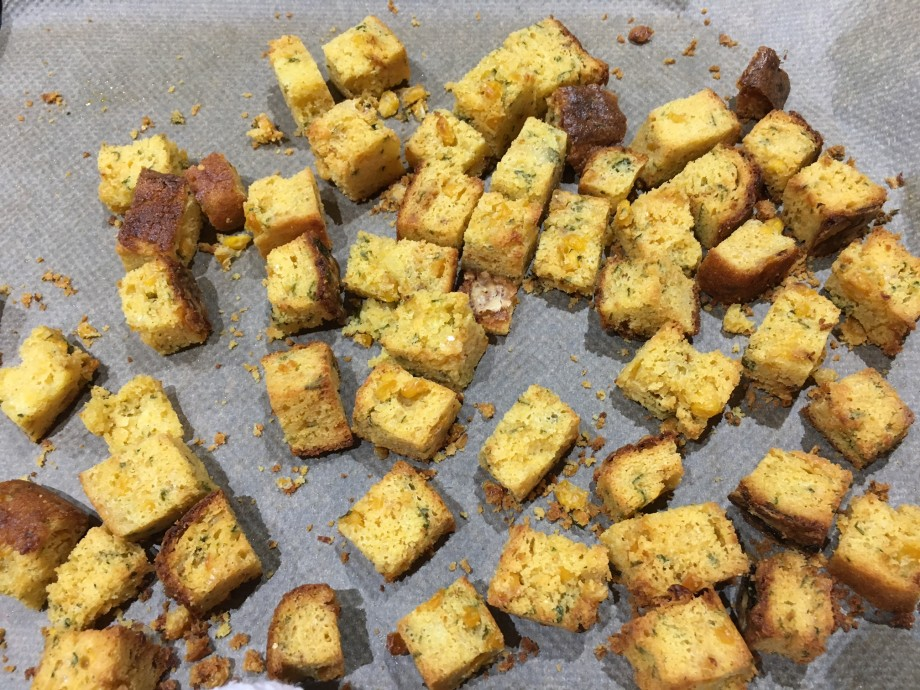 Cornbread, leek and bacon stuffing