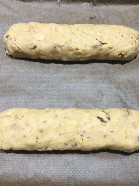 Caramelised nut and orange biscotti