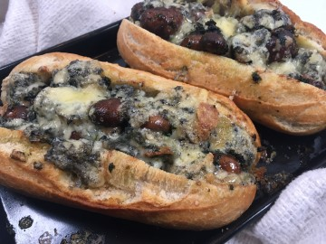 Garlic Mushroom and Stilton Bread