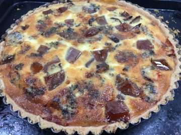 Red Onion, Stilton and Quince Tart