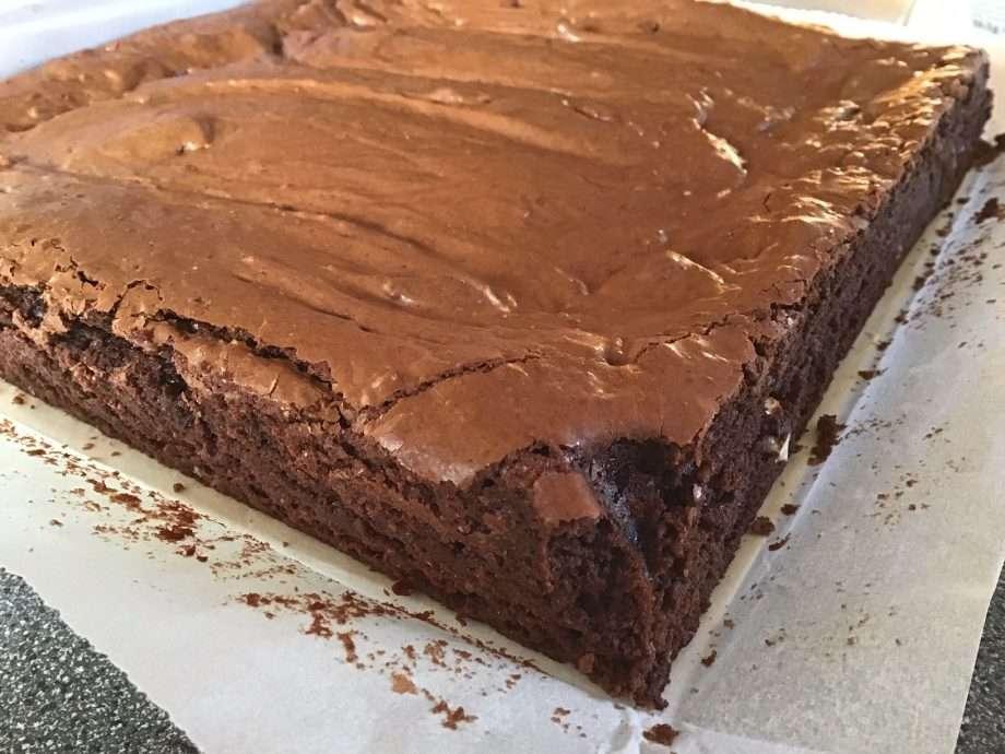 Glazed Chocolate and Rye Brownies