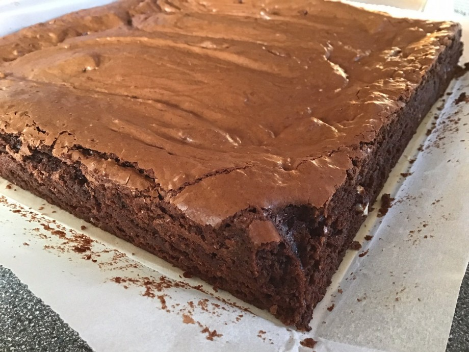 Glazed Chocolate and Rye Brownies