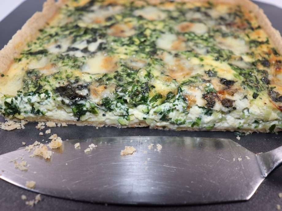 Courgette, Wild Garlic and Roquefort Tart