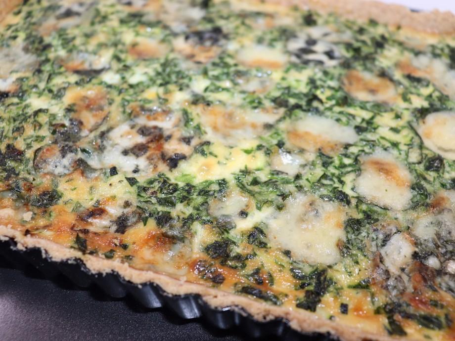 Courgette, Wild Garlic and Roquefort Tart