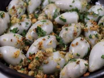 Squid Stuffed with Olives, Anchovy and Fennel