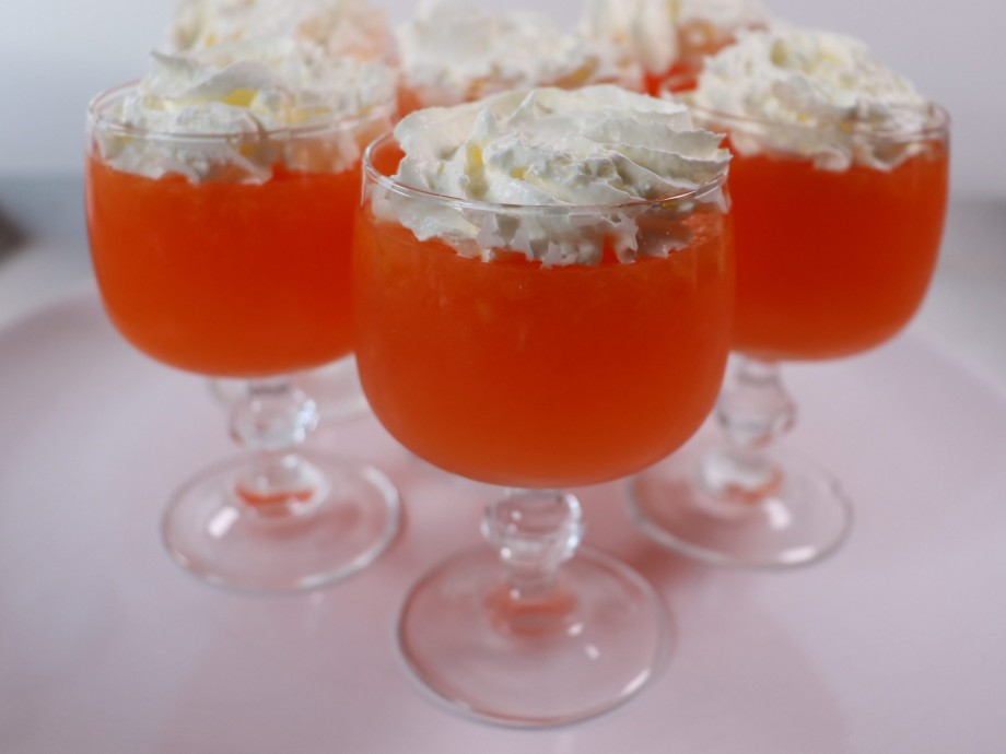 Clementine and Aperol Jellies