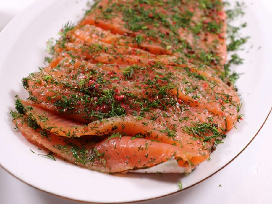 Whisky-Cured Salmon with Dill and Pink Peppercorns