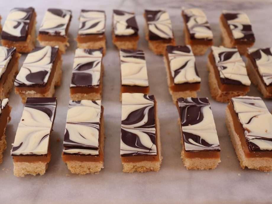 Miso Caramel Shortbread Bars