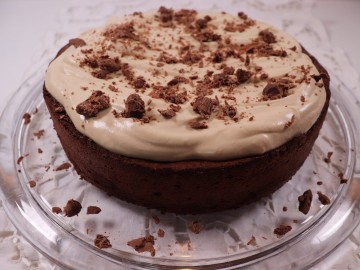 Toasted Buckwheat Chocolate Torte with PX Whipped Cream