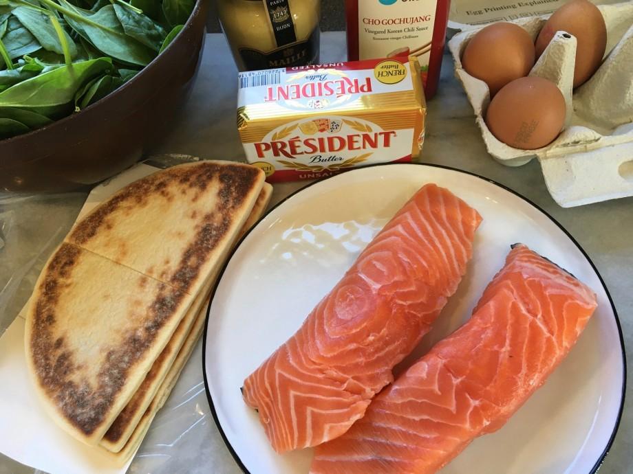 Salmon with Gochujang Hollandaise Sauce