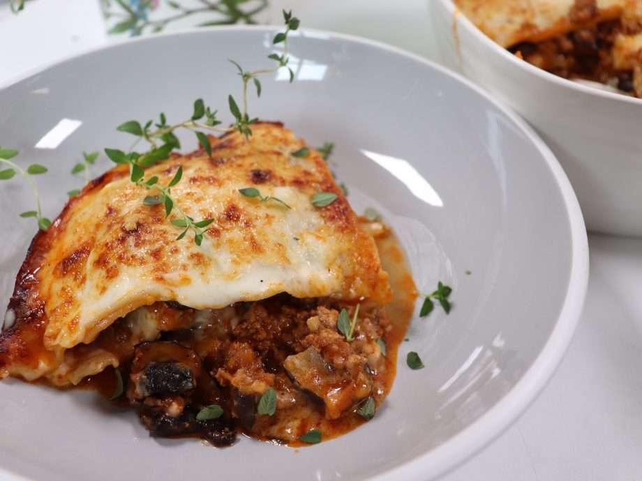 Veal and Mushroom Lasagne