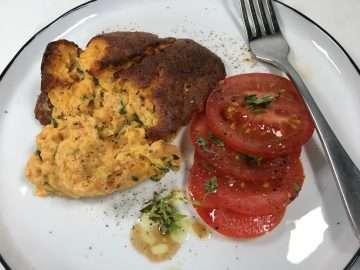 Courgette, N'duja and Parmesan Soufflé