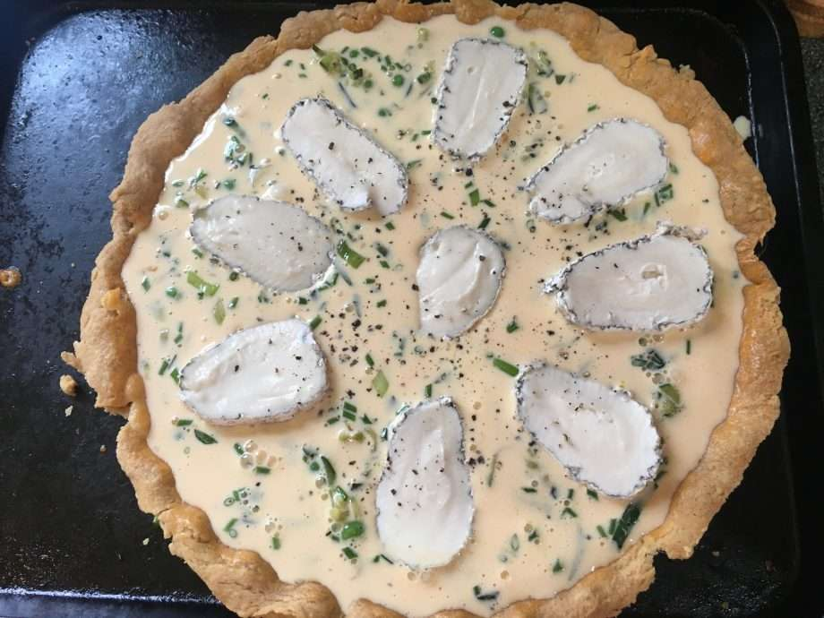 Goat's Cheese and Summer Vegetable Tart
