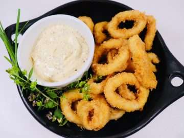 Crispy Squid with Black Pepper and Lime Mayonnaise
