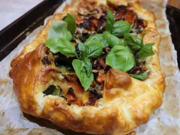 Roast Butternut, Chard and Epoisses Tart