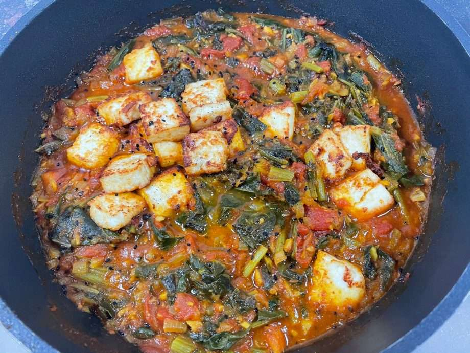 Spiced Swiss Chard with Paneer