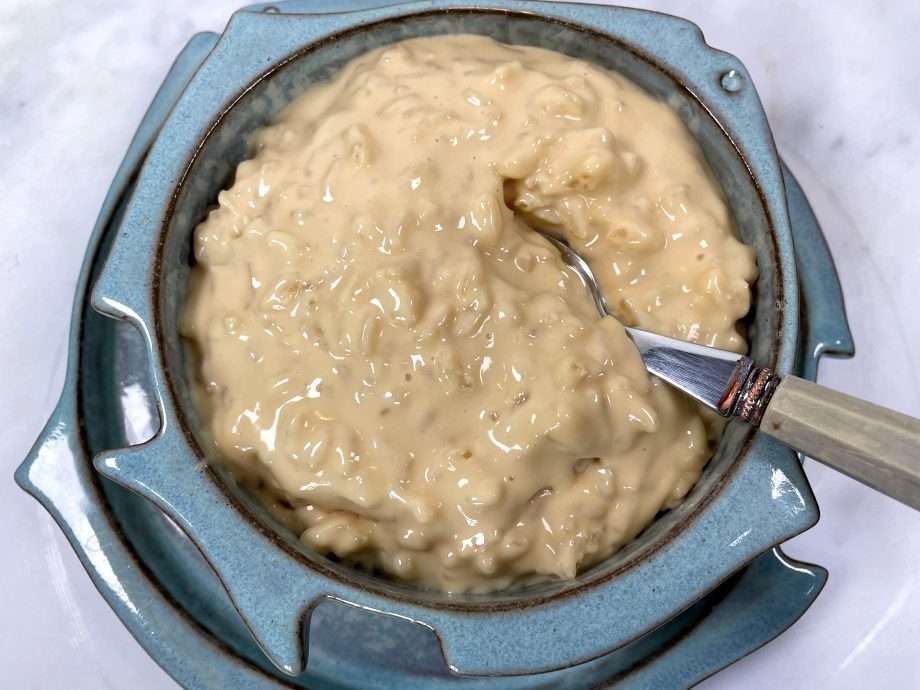 Malted Clotted Cream Rice Pudding