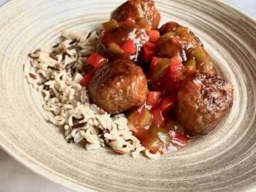 Pork and Crab Balls with Sweet and Sour Sauce