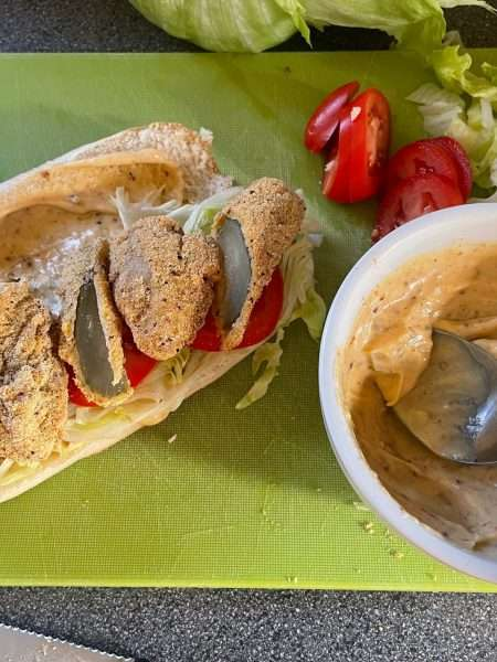 Oyster and Pickle Po' Boy
